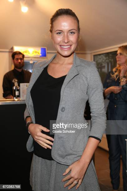 Alena Gerber pregnant during the Just Eve spring fever fashion show on April 19 2017 in Munich Germany