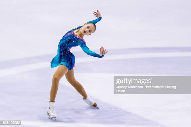 Alena Kostorinaia of Russia competes in the Ladies Free Skating during day two of the ISU Junior Grand Prix of Figure Skating at Olivia Ice Rink on...