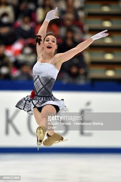 Alena Leonova of Russia competes in the ladies's free skating during the day two of the NHK Trophy ISU Grand Prix of Figure Skating 2015 at the Big...