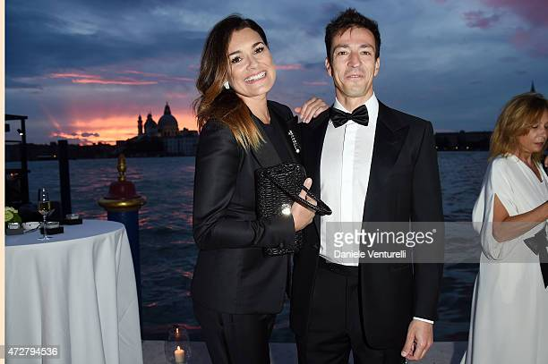 Alena Seredova and Alessandro Nasi attend the Venetian Heritage And Bulgari Gala Dinner at Cipriani Hotel on May 9 2015 in Venice Italy