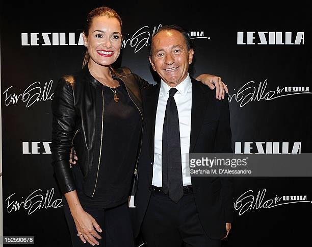 Alena Seredova and Ennio Silla attend Le Silla Press Day as part of Milan Fashion Week Womenswear S/S 2013 on September 22 2012 in Milan Italy