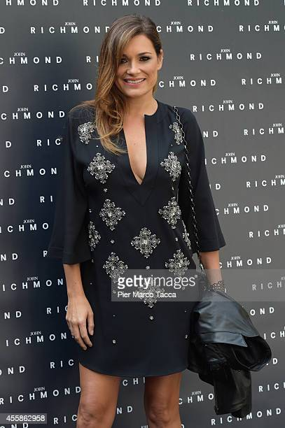 Alena Seredova attends on the John Richmond show during the Milan Fashion Week Womenswear Spring/Summer 2015 on September 21 2014 in Milan Italy