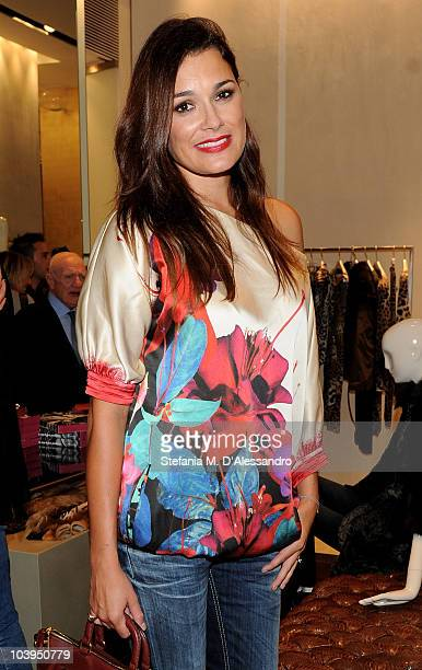 Alena Seredova attends Roberto Cavalli Milan Fashion Night Out on September 9 2010 in Milan Italy
