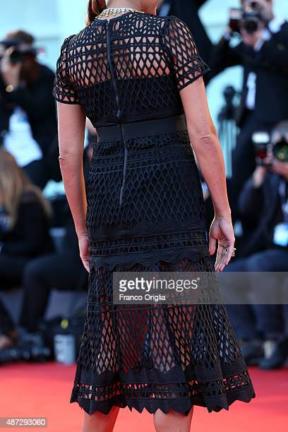 Alena Seredova dress detail attends a premiere for 'Blood Of My Blood' during the 72nd Venice Film Festival at on September 8 2015 in Venice Italy