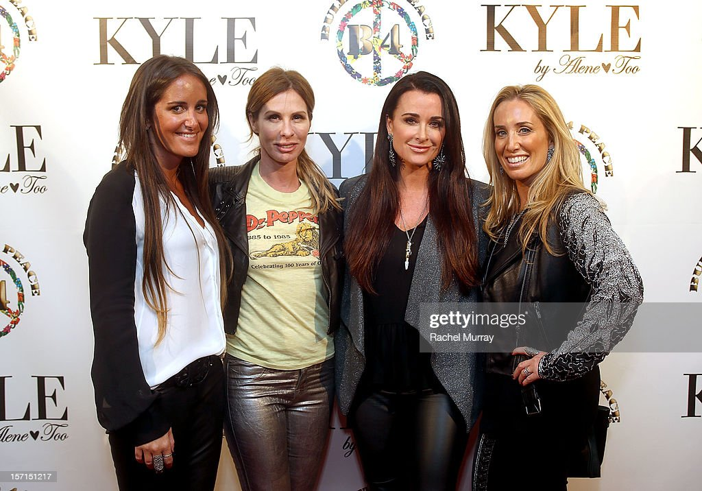 Alene Too founder Lizzy Schwartz, Carole Radziwill, Alene Too founders Kyle Richards, and Debbie Weisman attend Kyle By Alene Too holiday shopping event featuring Bullets For Peace benefiting Safe Passage Charity on November 28, 2012 in Beverly Hills, California.