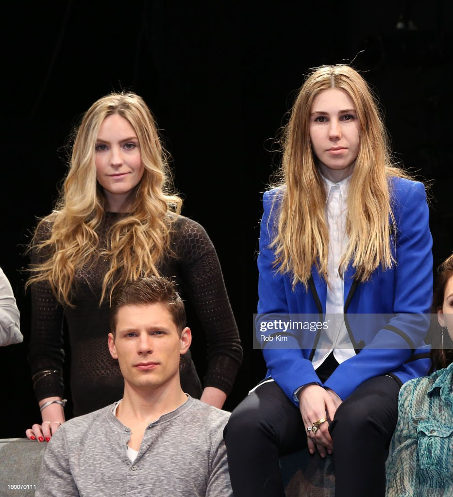 Aleque Reid, Matt Lauria and Zosia Mamet attend the 'Really Really' cast photo call at Lucille Lortel Theatre on January 25, 2013 in New York City.