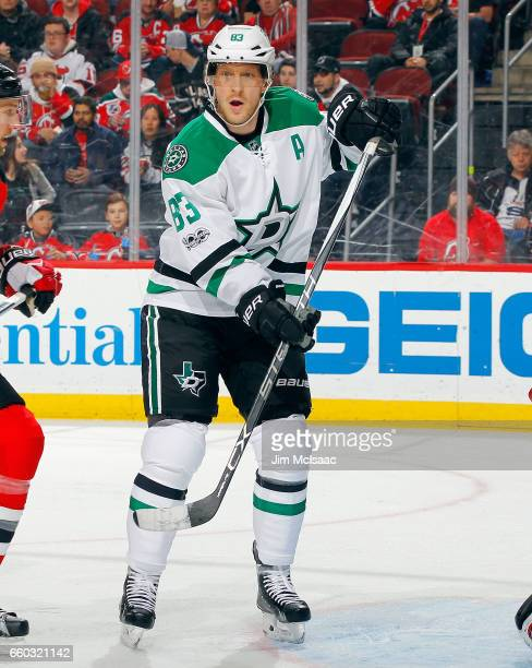 Ales Hemsky of the Dallas Stars in action against the New Jersey Devils on March 26 2017 at Prudential Center in Newark New Jersey The Stars defeated...
