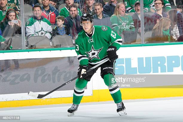 Ales Hemsky of the Dallas Stars skates against the Winnipeg Jets at the American Airlines Center on January 15 2015 in Dallas Texas