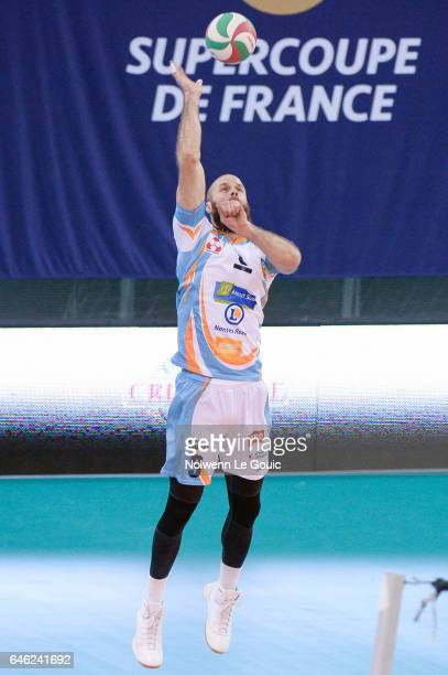 Ales Holubec of Nantes during the volleyball Ligue A match between Paris Volley and Nantes Reze at Salle Pierre Charpy on February 23 2017 in Paris...