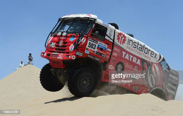 Ales Loprais of team Tatra competes during the stage from Pisco to Pisco on day two of the 2013 Dakar Rally on January 6 2013 in Pisco Peru