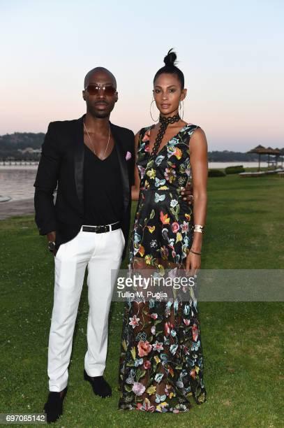 Alesha Dixon and Azuka Ononye attend The Costa Smeralda Invitational Gala Dinner at Cala di Volpe Hotel Costa Smeralda on June 17 2017 in Olbia Italy
