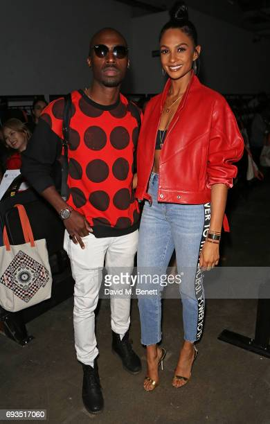 Alesha Dixon and Azuka Ononye attend the Graduate Fashion Week Gala 2017 at The Old Truman Brewery on June 7 2017 in London England