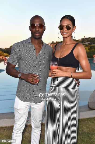 Alesha Dixon and Azuka Ononye attend the Welcome Dinner prior to The Costa Smeralda Invitational golf tournamen at Pevero Golf Club Costa Smeralda on...