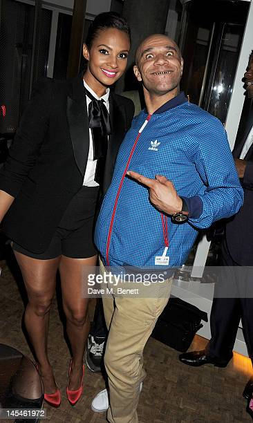 Alesha Dixon and Goldie attend as W LondonLeicester Square hosts an after party following the World Premiere of 'iLL Manors' the debut film by Ben...