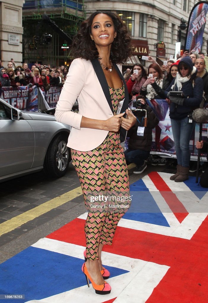 Alesha Dixon arrives for auditions for Britain's Got Talent at London Palladium on January 22, 2013 in London, England.