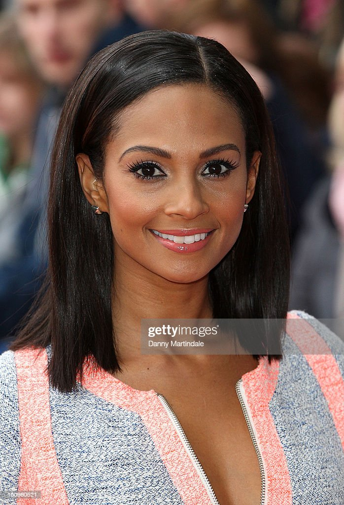 <a gi-track='captionPersonalityLinkClicked' href=/galleries/search?phrase=Alesha+Dixon&family=editorial&specificpeople=220622 ng-click='$event.stopPropagation()'>Alesha Dixon</a> arrives for the Birmingham auditions of Britain's Got Talent at The ICC on February 8, 2013 in Birmingham, England.