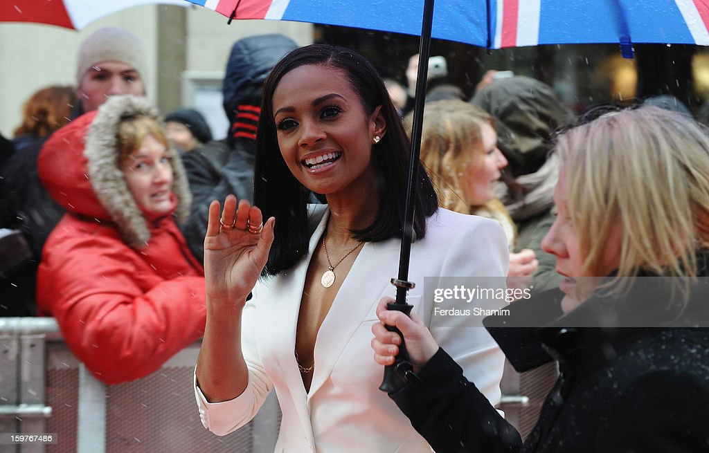 <a gi-track='captionPersonalityLinkClicked' href=/galleries/search?phrase=Alesha+Dixon&family=editorial&specificpeople=220622 ng-click='$event.stopPropagation()'>Alesha Dixon</a> arrives for the London judges auditions for 'Britain's Got Talent' at London Palladium on January 20, 2013 in London, England.