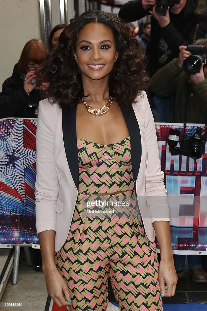 Alesha Dixon arriving for 'Britain's Got Talent' London Auditions on January 22, 2013 in London, England.