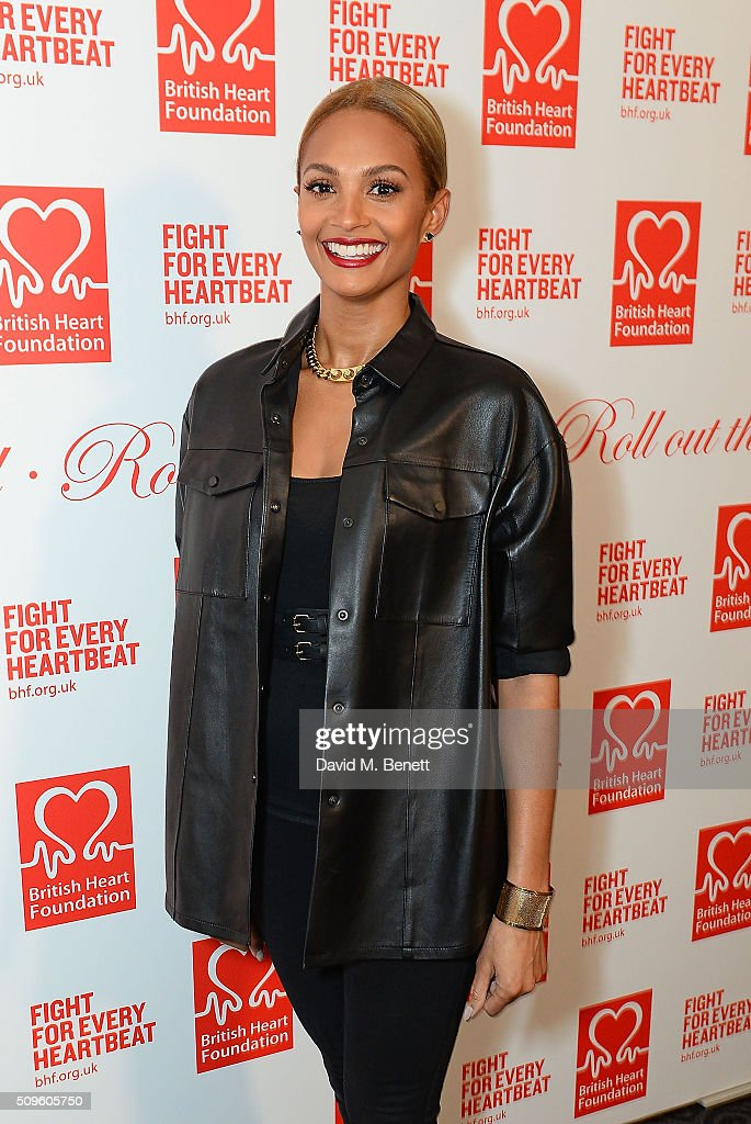 Alesha Dixon attends a drinks reception during the British Heart Foundation: Roll Out The Red Ball at The Savoy Hotel on February 11, 2016 in London, England.