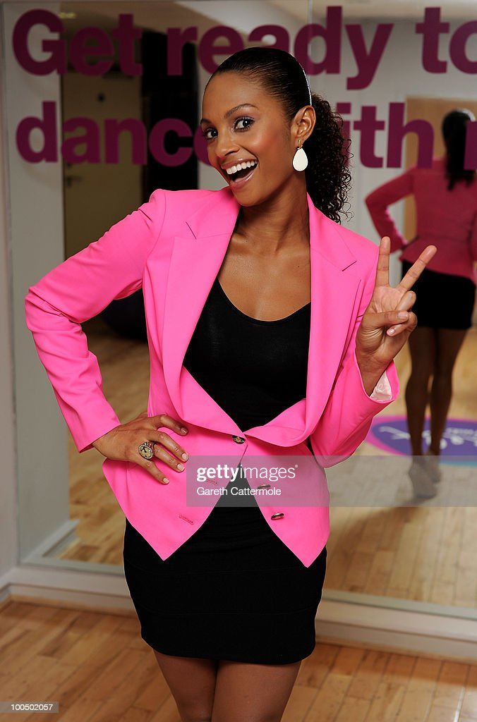 Alesha Dixon attends a photocall to launch a new dance class for LA Fitness gyms on May 25, 2010 in London, England.