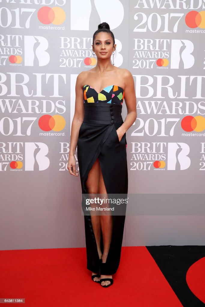 Alesha Dixon attends The BRIT Awards 2017 at The O2 Arena on February 22, 2017 in London, England.