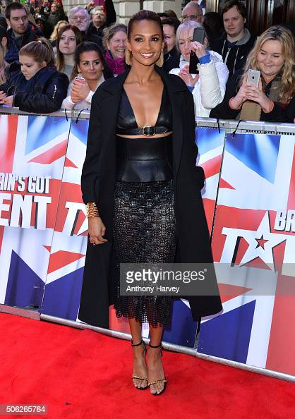 Alesha Dixon attends the Britain's Got Talent Auditions on January 22 2016 in London England