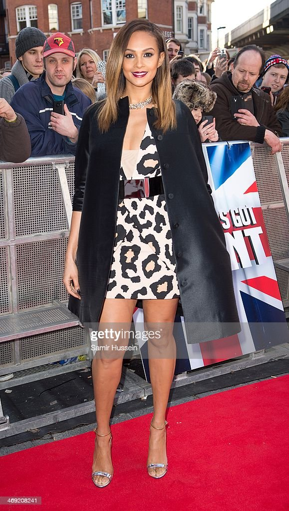 Alesha Dixon attends the Britain's Got Talent London auditions at the Hammersmith Apollo on February 13, 2014 in London, England.