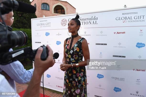 Alesha Dixon attends The Costa Smeralda Invitational Gala Dinner at Cala di Volpe Hotel Costa Smeralda on June 17 2017 in Olbia Italy