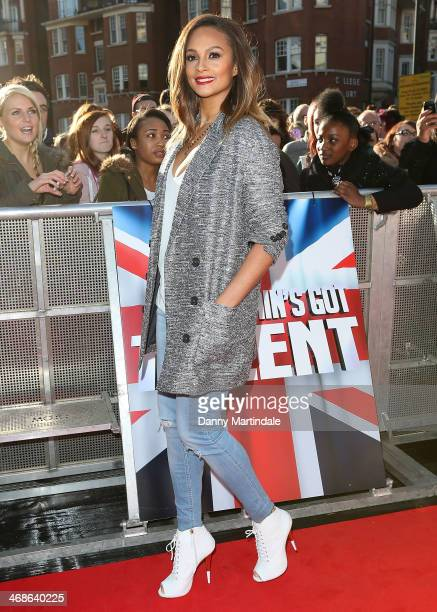 Alesha Dixon attends the London Auditions of Britain's Got Talent at Hammersmith Apollo on February 11 2014 in London England
