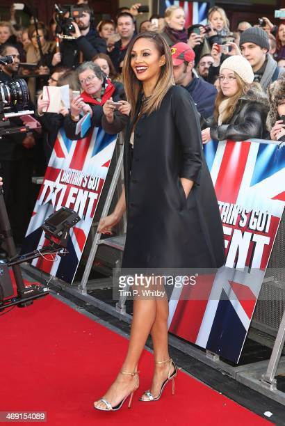 Alesha Dixon attends the London Auditions of Britain's Got Talent at Hammersmith Apollo on February 13 2014 in London England