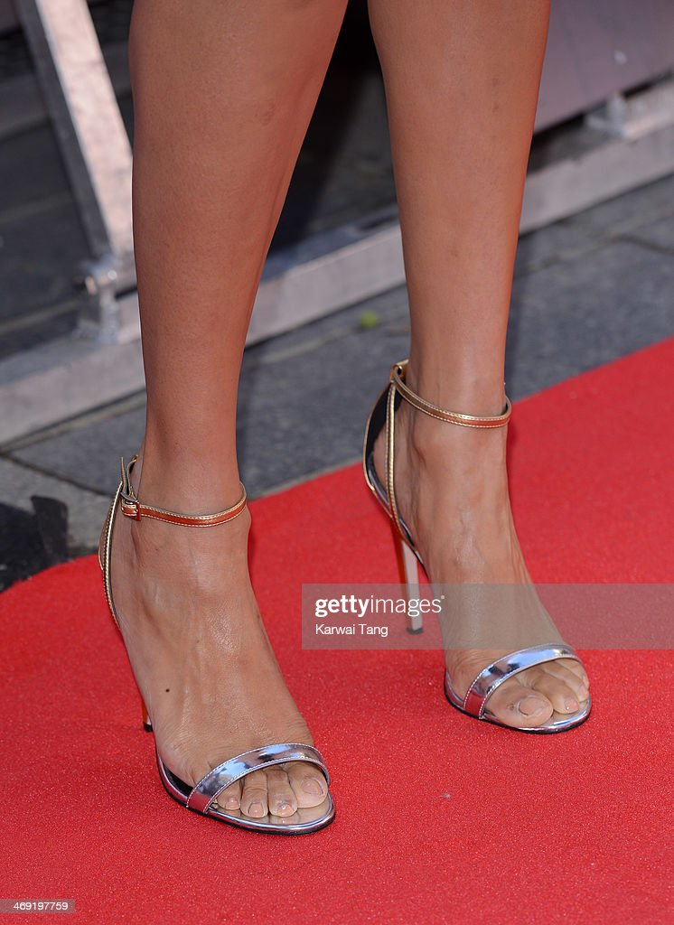 Alesha Dixon (Shoe detail) attends the London Auditions of Britain's Got Talent at Hammersmith Apollo on February 13, 2014 in London, England.