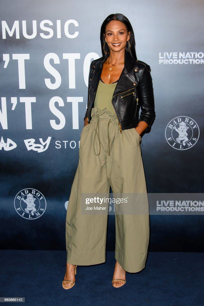 Alesha Dixon attends the London Screening of 'Can't Stop, Won't Stop: A Bad Boy Story' at The Curzon Mayfair on May 16, 2017 in London, England.
