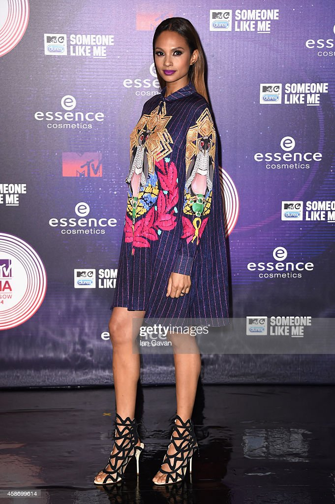 Alesha Dixon attends the MTV EMA's 2014 at The Hydro on November 9 2014 in Glasgow Scotland