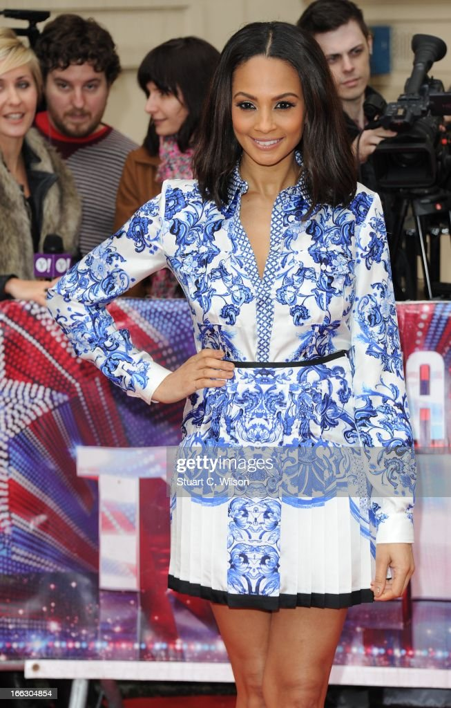 Alesha Dixon attends the press launch for the new series of 'Britain's Got Talent' at ICA on April 11, 2013 in London, England.