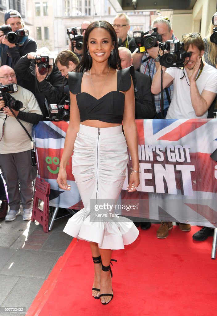 Alesha Dixon attends the red carpet arrivals for the new series of Britain's Got Talent at the Mayfair Hotel on April 12, 2017 in London, United Kingdom.