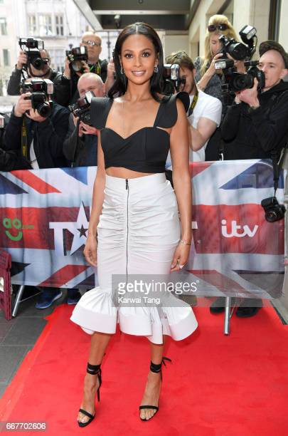 Alesha Dixon attends the red carpet arrivals for the new series of Britain's Got Talent at the Mayfair Hotel on April 12 2017 in London United Kingdom