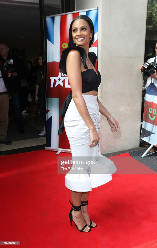Alesha Dixon attends the red carpet for the new series of Britain's Got Talent at The Mayfair Hotel on April 12, 2017 in London, United Kingdom.