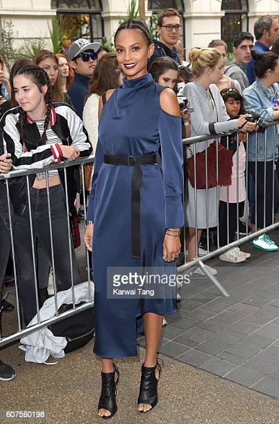Alesha Dixon attends the TopShop show during London Fashion Week Spring/Summer collections 2016/2017 at Old Spitalfields Market on September 18 2016...
