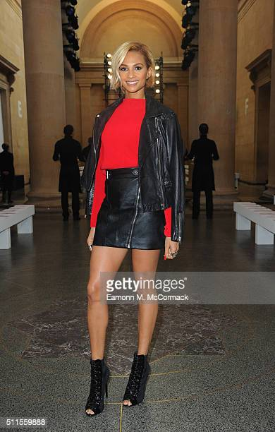 Alesha Dixon attends the Topshop Unique show during London Fashion Week Autumn/Winter 2016/17 at on February 21 2016 in London England