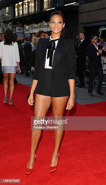 Alesha Dixon attends world premiere of 'Ill Manors' at Empire Leicester Square on May 30 2012 in London England