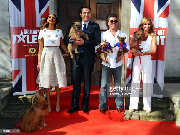 Alesha Dixon David Walliams Simon Cowell and Amanda Holden attend a photocall for 'Britain's Got Talent' at St Luke's Church on April 9 2014 in...