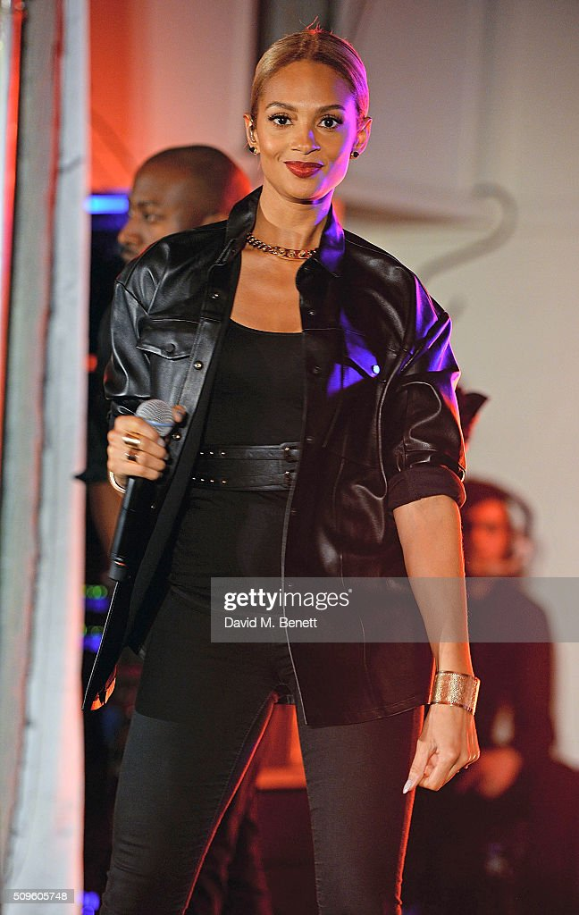 Alesha Dixon performs at the British Heart Foundation: Roll Out The Red Ball at The Savoy Hotel on February 11, 2016 in London, England.