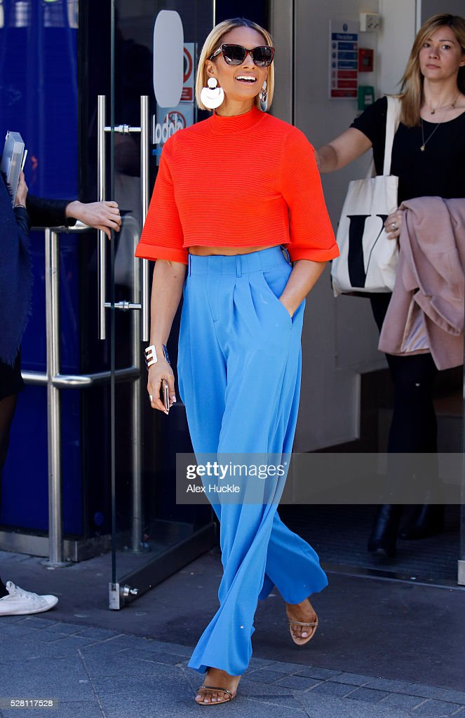 <a gi-track='captionPersonalityLinkClicked' href=/galleries/search?phrase=Alesha+Dixon&family=editorial&specificpeople=220622 ng-click='$event.stopPropagation()'>Alesha Dixon</a> seen leaving the Global Radio Studios on May 4, 2016 in London, England.