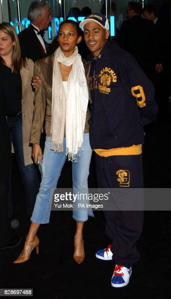 Alesha from MisTeeq and Harvey from So Solid Crew arriving for the UK premiere of The Matrix Reloaded at the Odeon cinema in London's Leicester Square