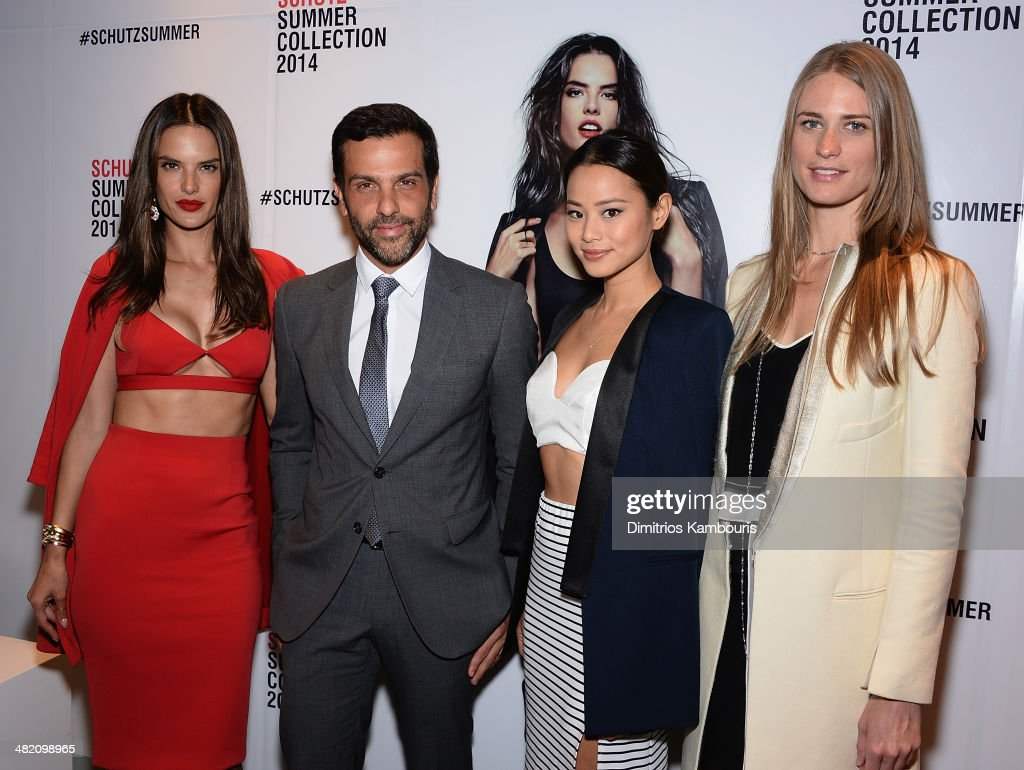 <a gi-track='captionPersonalityLinkClicked' href=/galleries/search?phrase=Alessandra+Ambrosio&family=editorial&specificpeople=203062 ng-click='$event.stopPropagation()'>Alessandra Ambrosio</a>, Alexandre Birman, <a gi-track='captionPersonalityLinkClicked' href=/galleries/search?phrase=Jamie+Chung&family=editorial&specificpeople=4145549 ng-click='$event.stopPropagation()'>Jamie Chung</a> and Julier Henderson attend the Schutz Summer 2014 Collection Launch at Schutz on April 2, 2014 in New York City.
