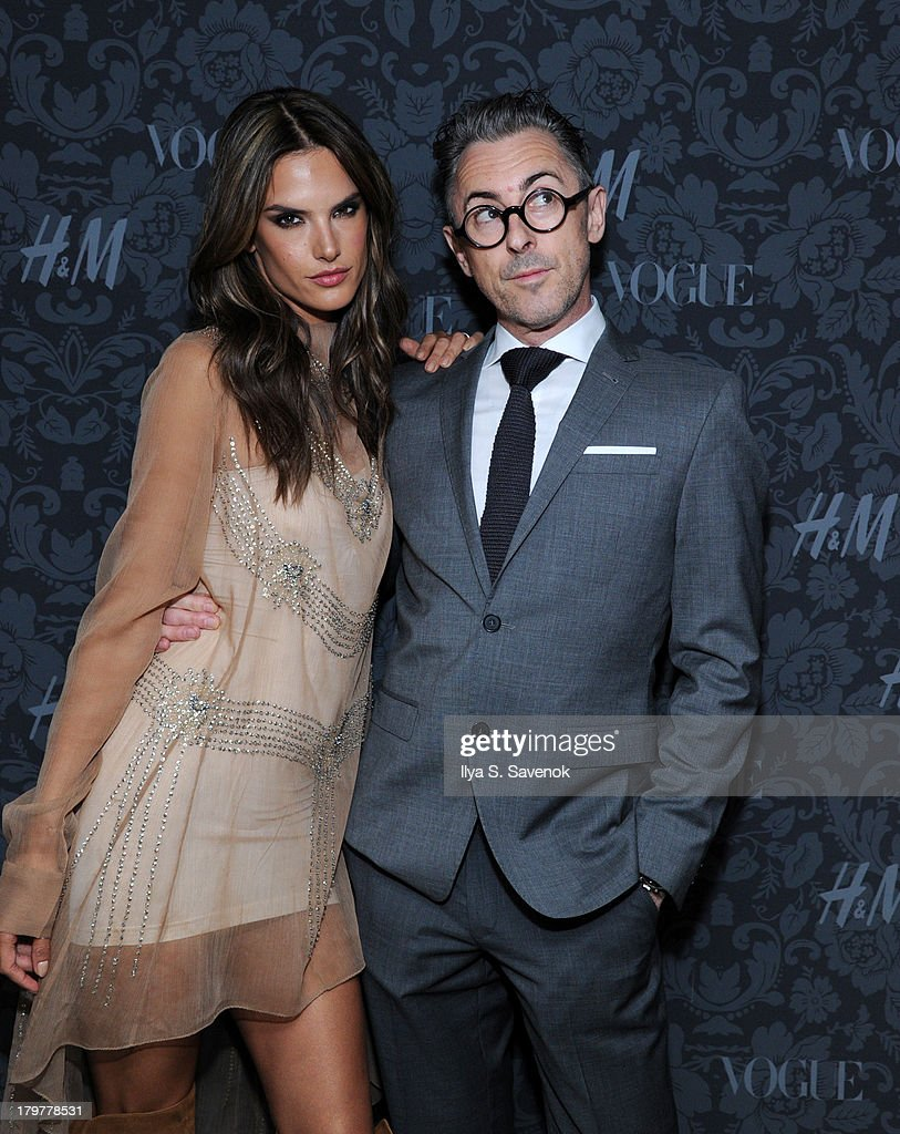 <a gi-track='captionPersonalityLinkClicked' href=/galleries/search?phrase=Alessandra+Ambrosio&family=editorial&specificpeople=203062 ng-click='$event.stopPropagation()'>Alessandra Ambrosio</a> and <a gi-track='captionPersonalityLinkClicked' href=/galleries/search?phrase=Alan+Cumming&family=editorial&specificpeople=202521 ng-click='$event.stopPropagation()'>Alan Cumming</a> wearing H&Mattend H&M & Vogue Studios Celebrate 'Between The Shows' on September 6, 2013 in New York City.
