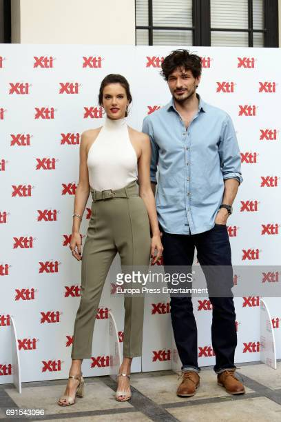 Alessandra Ambrosio and Andres Velencoso present 'Xti' 2017 shoes Summer New Collection on June 2 2017 in Madrid Spain