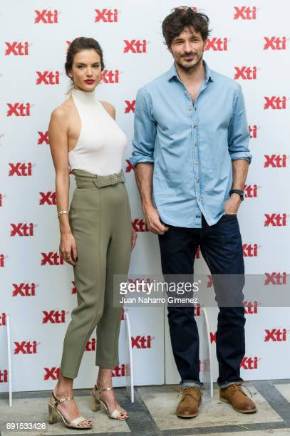 Alessandra Ambrosio and Andres Velencoso present Xti shoes 2017 summer collection at the Only You Hotel on June 2 2017 in Madrid Spain