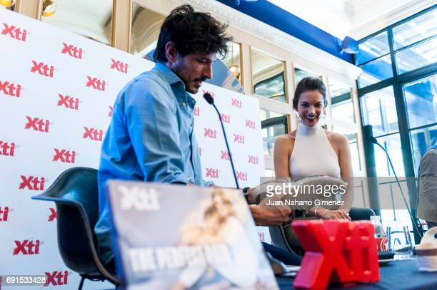 Alessandra Ambrosio and Andres Velencoso presents Xti shoes 2017 summer collection at the Only You Hotel on June 2 2017 in Madrid Spain