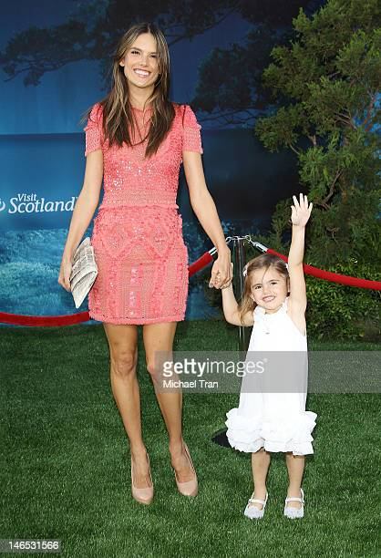 Alessandra Ambrosio and her daughter Anja Louise Ambrosio Mazur arrive at 2012 Los Angeles Film Festival 'Brave' premiere held at Dolby Theatre on...